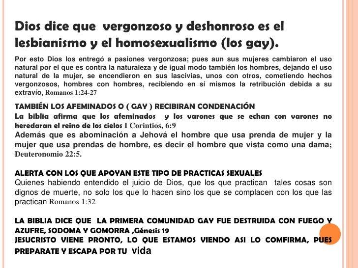Dios aborrece el homosexualismo