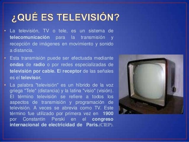 inventos tecnologicos la television