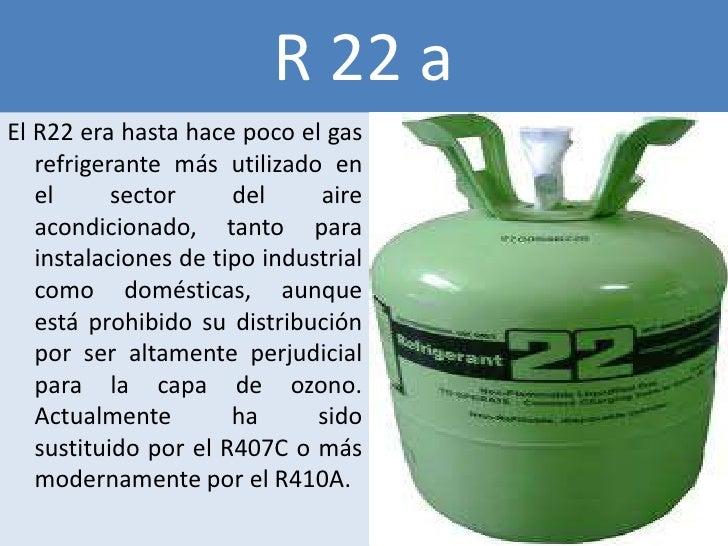 R 22 aEl R22 era hasta hace poco el gas   refrigerante más utilizado en   el      sector     del     aire   acondicionado,...