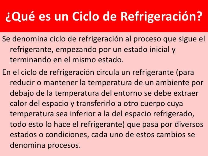 ¿Qué es un Ciclo de Refrigeración?Se denomina ciclo de refrigeración al proceso que sigue el  refrigerante, empezando por ...
