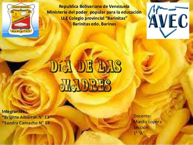 """Republica Bolivariana de VenezuelaMinisterio del poder popular para la educaciónU.E Colegio provincial """"Barinitas""""Barinita..."""