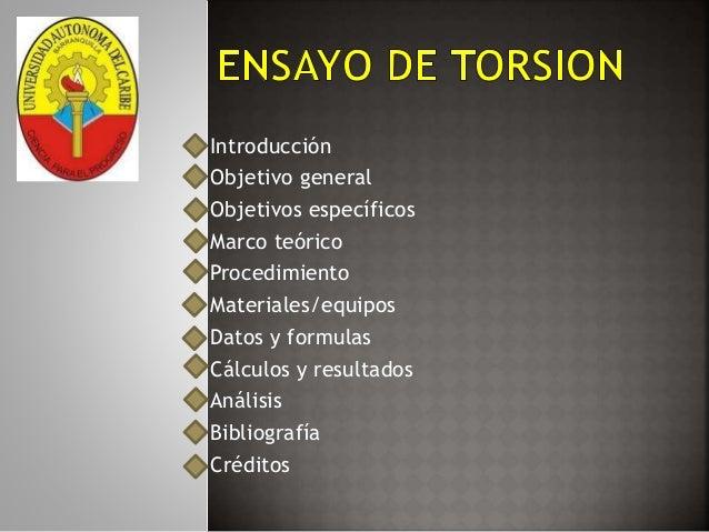 Introducción  Objetivo general  Objetivos específicos  Marco teórico  Procedimiento  Materiales/equipos  Datos y formulas ...