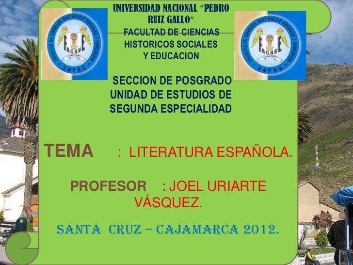 """UNIVERSIDAD NACIONAL """"PEDRO                 RUIZ GALLO""""           FACULTAD DE CIENCIAS           HISTORICOS SOCIALES      ..."""