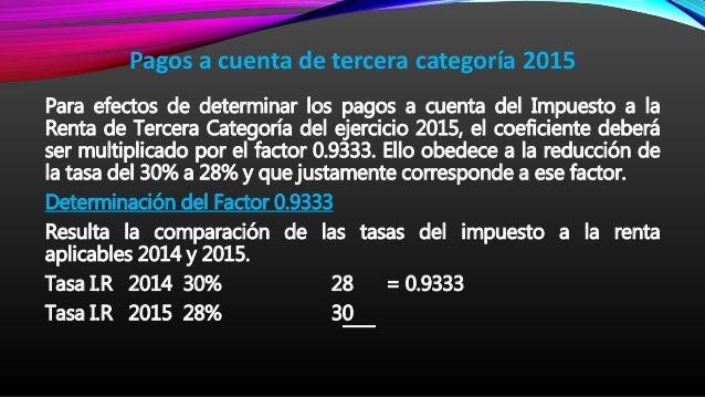 Tasa Del Impuesto A La Renta Anual 2015