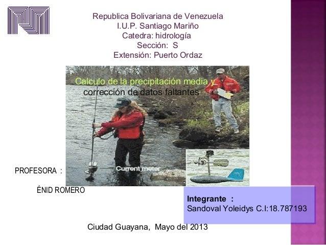 Integrante :Sandoval Yoleidys C.I:18.787193Integrante :Sandoval Yoleidys C.I:18.787193Republica Bolivariana de VenezuelaI....