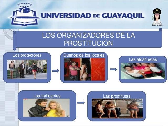 LOS ORGANIZADORES DE LA PROSTITUCIÓN Los protectores Dueños de los locales Los traficantes Las alcahuetas Las prostitutas