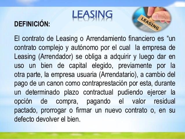 Diapositiva de leasing inmobiliario for Definicion de mobiliario