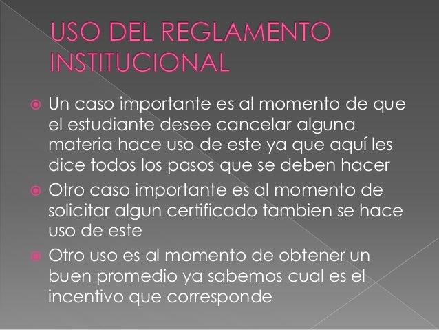 Diapositiva reglamento estudiantil lorena for Que oficina de empleo me corresponde