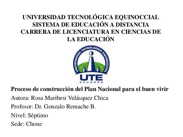 UNIVERSIDAD TECNOLÓGICA EQUINOCCIALSISTEMA DE EDUCACIÓN A DISTANCIACARRERA DE LICENCIATURA EN CIENCIAS DELA EDUCACIÓNProce...