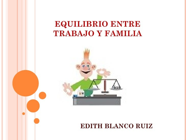EQUILIBRIO ENTRETRABAJO Y FAMILIA     EDITH BLANCO RUIZ