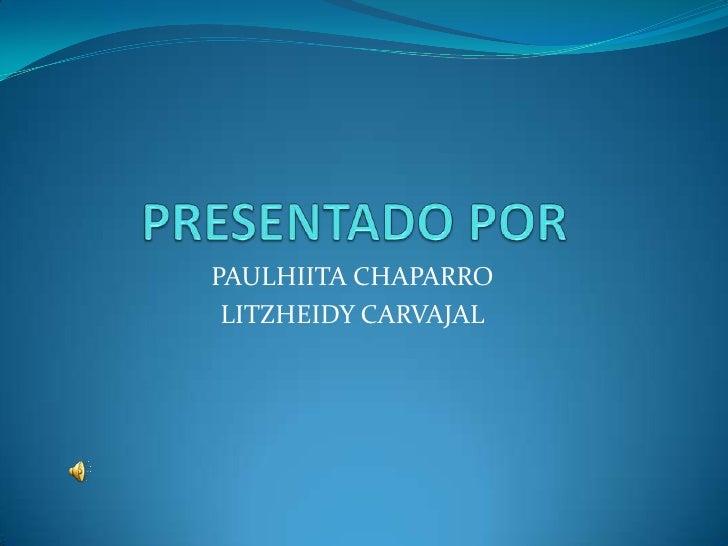 PAULHIITA CHAPARRO LITZHEIDY CARVAJAL