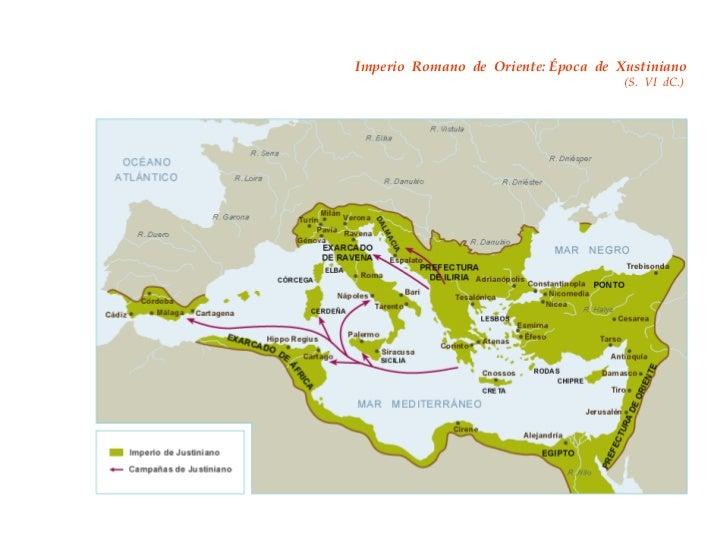 Imperio  Romano  de  Oriente: Época  de  Xustiniano   (S.  VI  dC.)