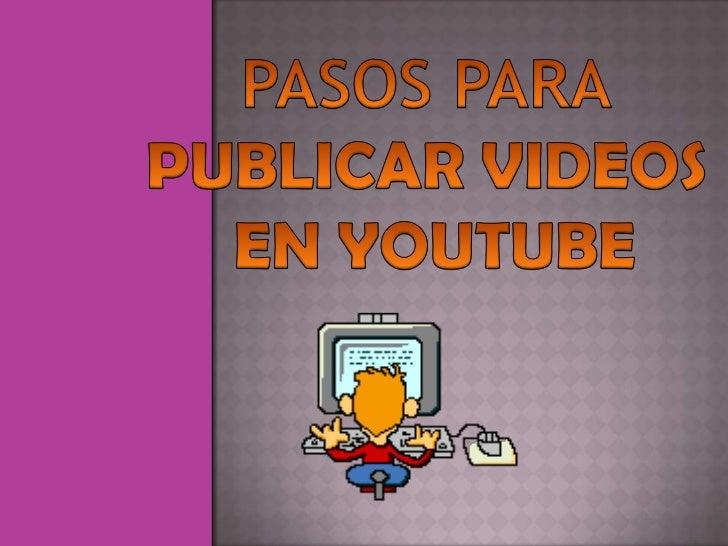 YouTube y Google Video son dos servicio de distribución devideos en internet, tiene una plataforma muy fácil de utilizarpa...