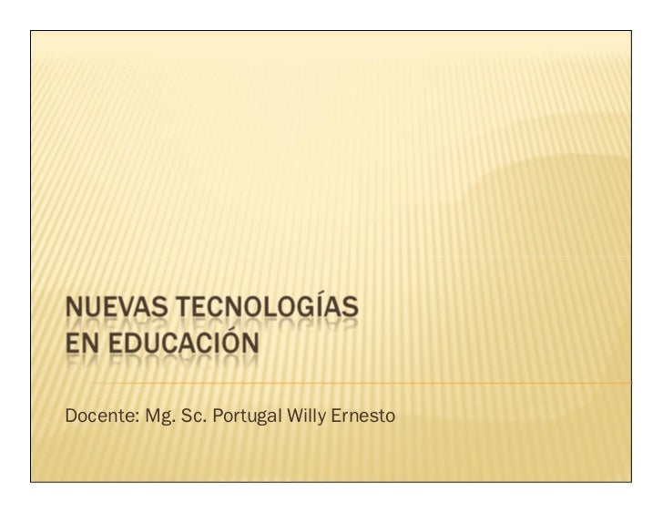 Docente: Mg. Sc. Portugal Willy Ernesto
