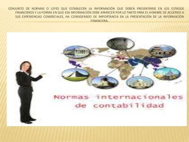 Resumen de las normas internacionales de contabilidad