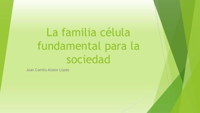 La familia célula  fundamental para la  sociedad  Juan Camilo Alzate López