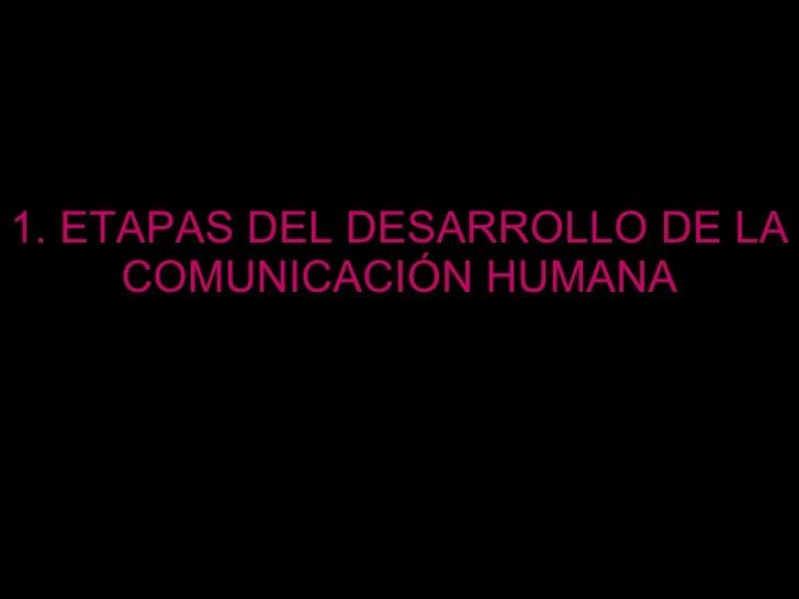 1. ETAPAS DEL DESARROLLO DE LA COMUNICACIÓN HUMANA