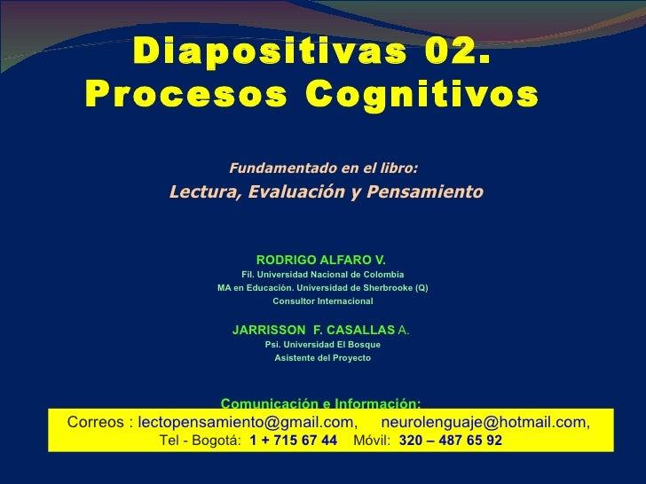 Diapositivas 02.  Procesos Cognitivos  <ul><li>Fundamentado en el libro: </li></ul><ul><li>Lectura, Evaluación y Pensamien...
