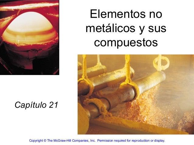 Elementos no                                         metálicos y sus                                          compuestosCa...