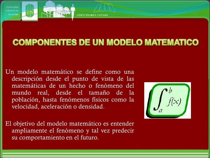 Componentes Modelo Matematico, Cifras Significativas, Exactitud y Presición, Aportes de las Series Slide 2