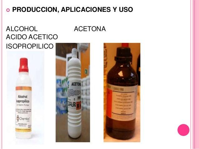 Diapositivas acetona - Usos del alcohol ...