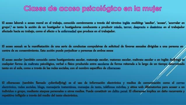 acoso psicologico en la mujer Slide 3