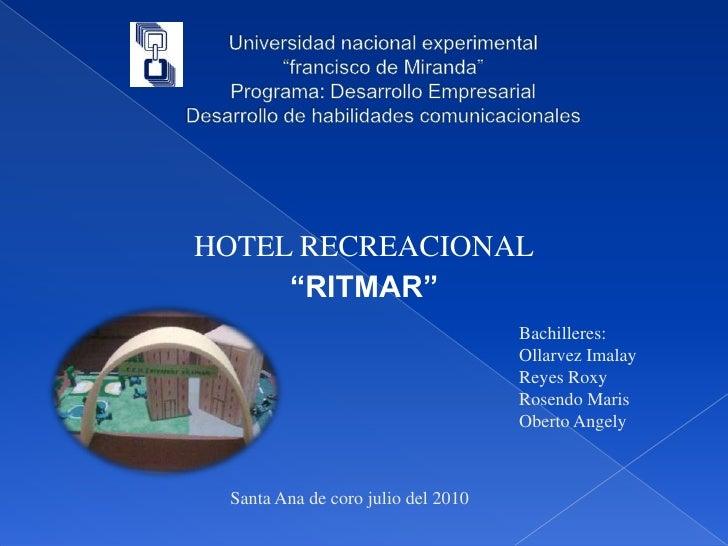 """Universidad nacional experimental """"francisco de Miranda""""Programa: Desarrollo EmpresarialDesarrollo de habilidades comunica..."""