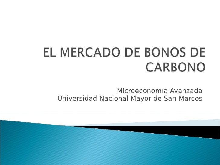 Microeconomía Avanzada Universidad Nacional Mayor de San Marcos