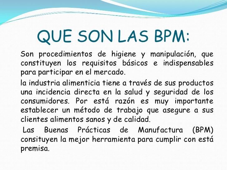 Diapositivas bpm yury 2 for Manual de buenas practicas de higiene y manipulacion de alimentos