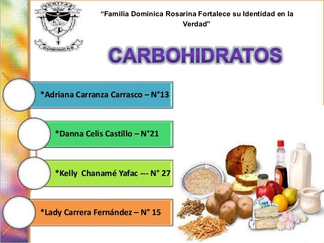 Diapositivas carbohidratos - Que alimentos son carbohidratos ...