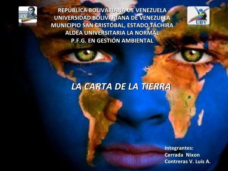 REPÚBLICA BOLIVARIANA DE VENEZUELA UNIVERSIDAD BOLIVARIANA DE VENEZUELAMUNICIPIO SAN CRISTÓBAL, ESTADO TÁCHIRA    ALDEA UN...