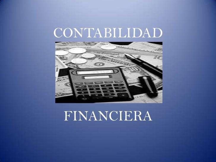 Diapositivas contabilidad financiera