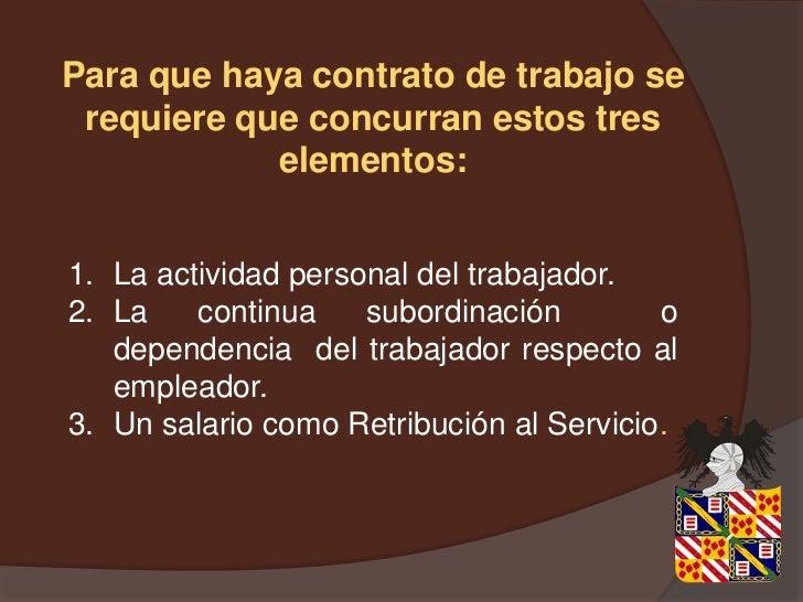 Diapositivas de derecho laboral for Contrato trabajo indefinido servicio hogar familiar