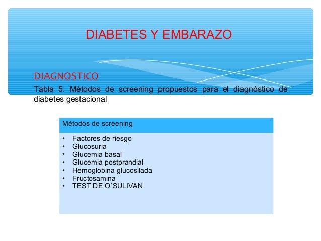 Diapositivas de diabetes y embarazo.