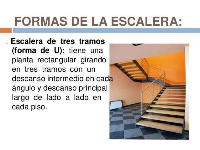 Escalones y escaleras for Escaleras en forma de u
