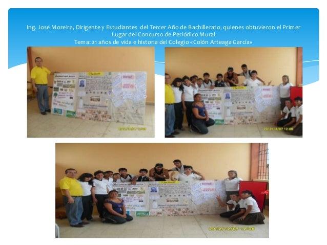 Proyecto de vinculaci n comunitaria 2012 for Caracteristicas del periodico mural