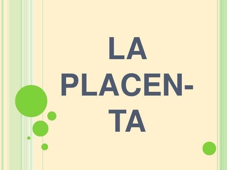 LA PLACEN-TA <br />