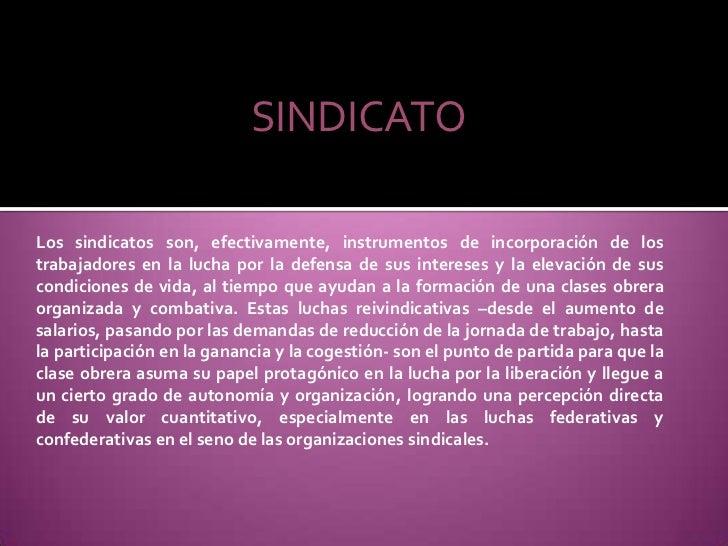 Diapositivas de sindicato Slide 3