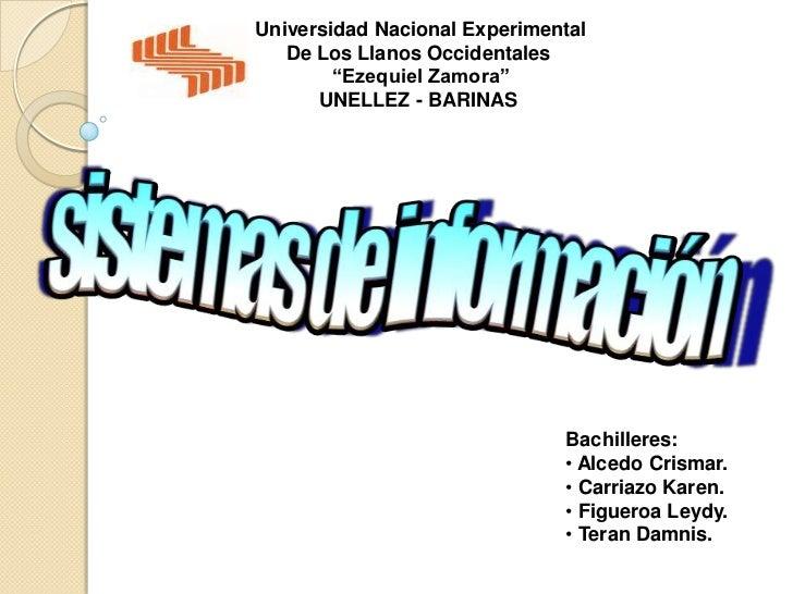 """Universidad Nacional Experimental   De Los Llanos Occidentales        """"Ezequiel Zamora""""      UNELLEZ - BARINAS            ..."""