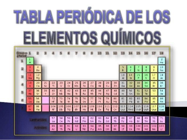 La tabla periódica de los elementos clasifica, organiza y distribuye los distintos elementos químicos, conforme a sus prop...