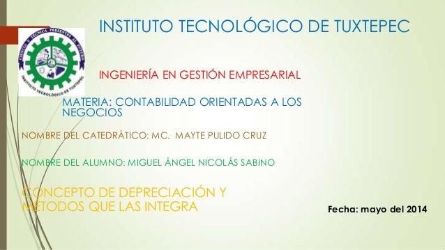 INSTITUTO TECNOLÓGICO DE TUXTEPEC INGENIERÍA EN GESTIÓN EMPRESARIAL NOMBRE DEL CATEDRÁTICO: MC. MAYTE PULIDO CRUZ NOMBRE D...
