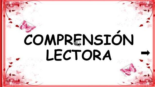 COMPRENSIÓN LECTORA