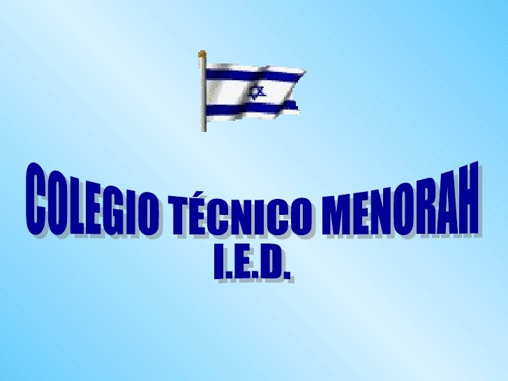 COLEGIO TÉCNICO MENORAH  I.E.D.