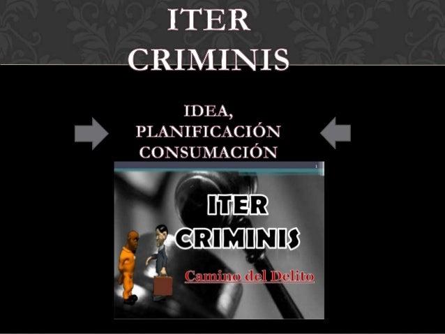 ELEMENTOS DELDELITO: ITER CRIMINIS Slide 2