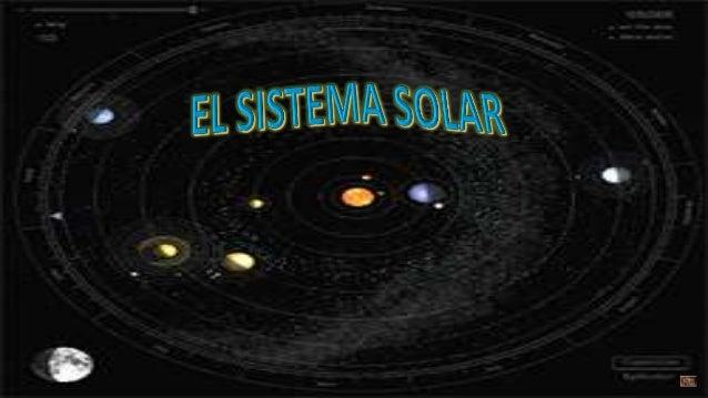 Diapositivas el sistema solar para niños