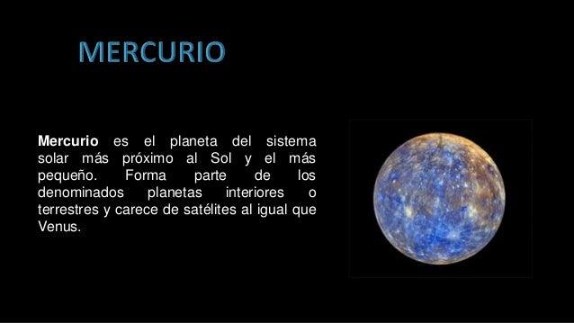 Diapositivas el sistema solar para ni os - Caracteristicas de los planetas interiores ...