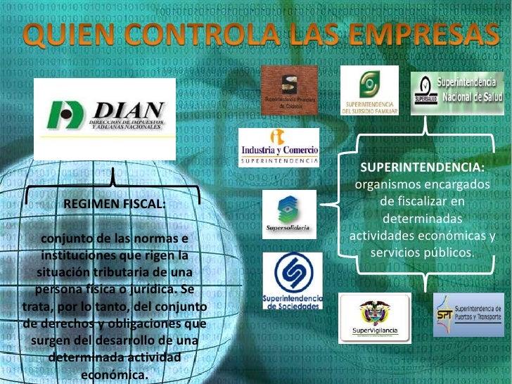 SUPERINTENDENCIA:                                     organismos encargados       REGIMEN FISCAL:                    de fi...