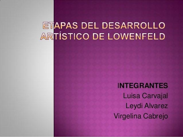 INTEGRANTESLuisa CarvajalLeydi AlvarezVirgelina Cabrejo
