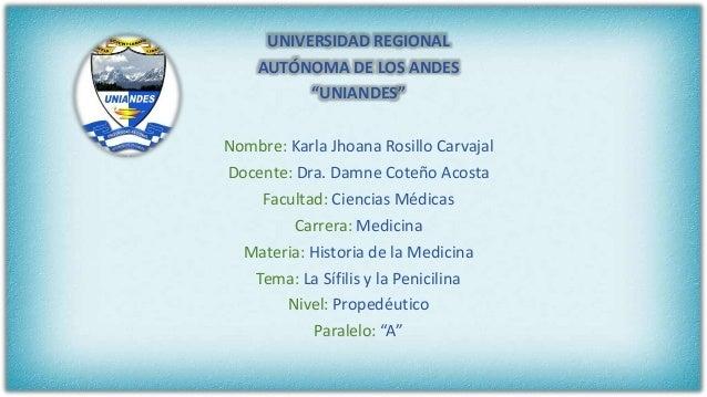 """UNIVERSIDAD REGIONAL AUTÓNOMA DE LOS ANDES """"UNIANDES"""" Nombre: Karla Jhoana Rosillo Carvajal Docente: Dra. Damne Coteño Aco..."""