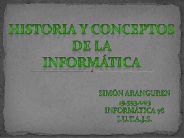 IntroducciónEn este trabajo asignado para la materia Procesamiento dedatos, veremos una pequeña reseña histórica de cómo f...